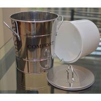 2-N-1 Kitchen Compost Bucket Stainless Steel Model CPBS03