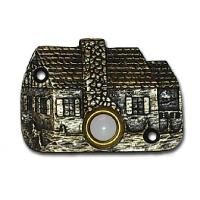Buck Snort Lodge Cabin Door Bell Pewter Model 919P