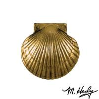 Michael Healy Designs Sea Scallop Door Knocker Polished Brass and Brow