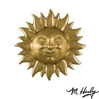 Michael Healy Designs Smiling Sunface Door Knocker Polished and Highli