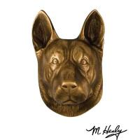 Michael Healy Designs Dog Knockers German Shepherd Door Knocker Bronze