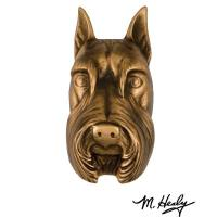 Michael Healy Designs Dog Knockers Schnauzer Door Knocker Bronze