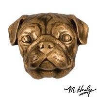 Michael Healy Designs Dog Knockers Pug Door Knocker Bronze