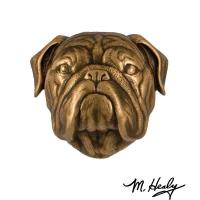 Michael Healy Designs Dog Knockers Bulldog Door Knocker Bronze