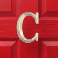 Michael Healy Designs Letter C Monogram Door Knocker Brushed Nickel