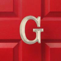 Michael Healy Designs Letter G Monogram Door Knocker Brushed Nickel