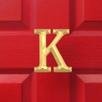 Michael Healy Designs Letter K Monogram Door Knocker Polished Brass