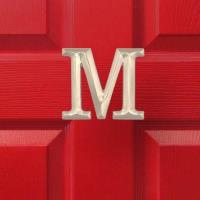 Michael Healy Designs Letter M Monogram Door Knocker Brushed Nickel