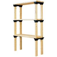 2x4basics ShelfLinks 6-Pack - Black