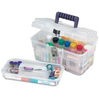 Akro-Mils 14in Art Supply Storage Box Set of Three