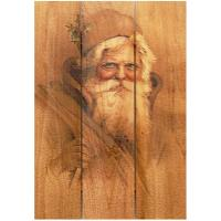 Daydream Gizaun Cedar Wall Art Father Christmas 16