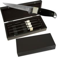 Sarge Black and White Steak Knife Set 4 pieces