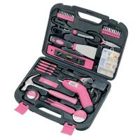 Apollo Tools 135 pc. Household Tool Kit Pink Model DT0773N1
