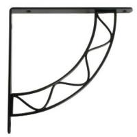 Knape and Vogt Stockton Designer Shelf Bracket Black Finish