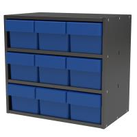 Akro-Mils Charcoal Gray Modular Cabinet with Blue Model 31162 AkroDraw