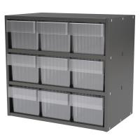 Akro-Mils Charcoal Gray Modular Cabinet with Clear Model 31162 AkroDra