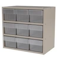 Akro-Mils Putty Colored Modular Cabinet with Clear Model 31162 AkroDra
