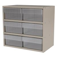 Akro-Mils Putty Colored Modular Cabinet with Clear Model 31182 AkroDra