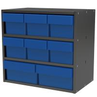 Akro-Mils Charcoal Grey Modular Cabinet with Both Model 31162 and 3118