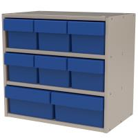 Akro-Mils Putty Colored Modular Cabinet with Both Model 31162 and 3118
