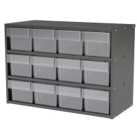 Akro-Mils Charcoal Grey Modular Cabinet with Red Model 31162 AkroDrawe