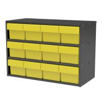 Akro-Mils Charcoal Grey Modular Cabinet with Yellow Model 31162 AkroDr