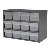 Akro-Mils Charcoal Grey Modular Cabinet with Clear Model 31162 AkroDra