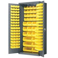 Akro-Mils Cabinet with Louvered Panels and AkroBins 36