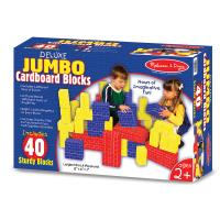 Melissa and Doug Deluxe Jumbo Cardboard Blocks 40-Piece