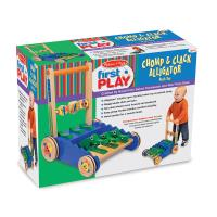 Melissa and Doug Chomp and Clack Alligator Push Toy