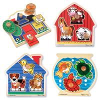Melissa and Doug Jumbo Knob Puzzle Bundle