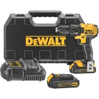 DeWalt 20V MAX Lithium Ion Compact Drill/Driver Kit (1.5 Ah) Model DCD