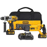DeWalt 20V MAX Lithium Ion Hammerdrill/Reciprocating Saw Combo Kit (3.