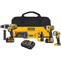 DeWalt 20V MAX Lithium Ion 4-Tool Combo Kit (3.0 Ah) Model DCK490L2