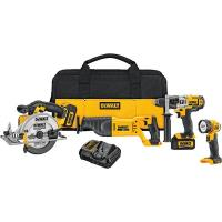 DeWalt 20V MAX Lithium Ion 4-Tool Combo Kit (3.0 Ah) Model DCK491L2
