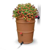 EarthMinded RainStationandtrade; 45 Gallon Rain Barrel Terracotta