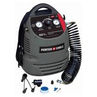 Porter Cable 1.5 Gallon Oil-Free Fully Shrouded Compressor 150 psi Mod