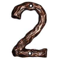 Buck Snort Lodge LHN2-ORB Log House Number 2 Oil Rubbed Bronze 1 piece