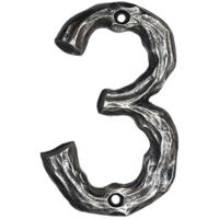 Buck Snort Lodge LHN3-ORB Log House Number 3 Oil Rubbed Bronze 1 piece