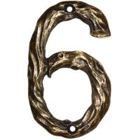 Buck Snort Lodge LHN6-ORB Log House Number 6 Oil Rubbed Bronze 1 piece