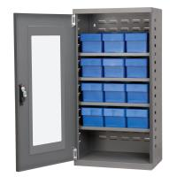 Akro Mils Charcoal Mini-Cabinet with 12 Blue Model 31162 AkroDrawers