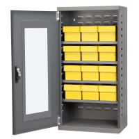 Akro Mils Charcoal Mini-Cabinet with 12 Yellow Model 31162 AkroDrawers