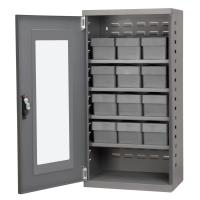 Akro Mils Charcoal Mini-Cabinet with 12 Gray Model 31162 AkroDrawers