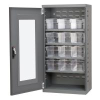 Akro Mils Charcoal Mini-Cabinet with 12 Clear Model 31162 AkroDrawers