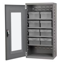 Akro Mils Charcoal Mini-Cabinet with 8 Gray Model 31182 AkroDrawers