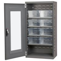 Akro Mils Charcoal Mini-Cabinet with 8 Clear Model 31182 AkroDrawers