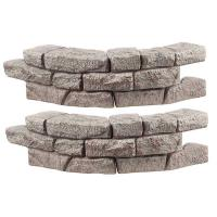 RTS Home Accents Rock Lock Residential Pack with 2 Curved Sections and