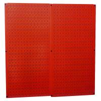 Wall Control Red Metal Pegboard Pack - Two Pegboard Tool Boards