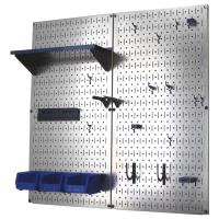Wall Control Metal Pegboard Utility Tool Storage Kit - Galvanized Stee