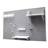 Wall Control 4' Metal Pegboard Standard Tool Storage Kit - Gray Toolbo